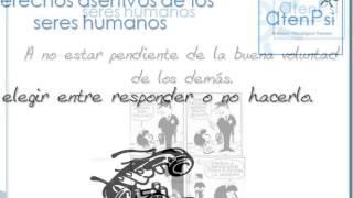 Derechos asertivos de los seres humanos. Psicología AtenPsi en Pozuelo, Madrid.