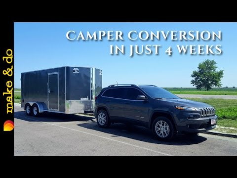 Cargo Trailer to Camper Conversion – How We Did It in 4 weeks