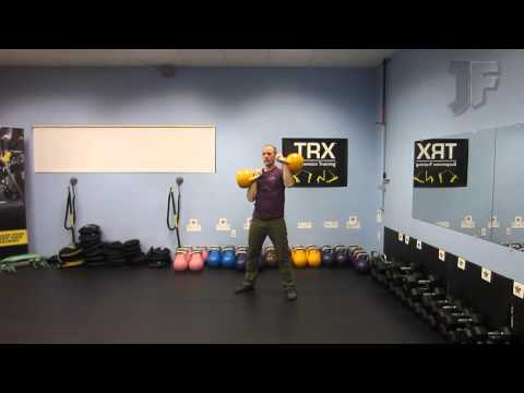 Standing Alternating Kettlebell Military Press