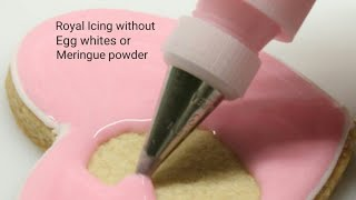 how to make royal icing without eggs or meringue powder