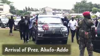 PREZ. AKUFO-ADDO ARRIVES AT NPP ANNUAL DELEGATES CONFERENCE #KOFORIDUA
