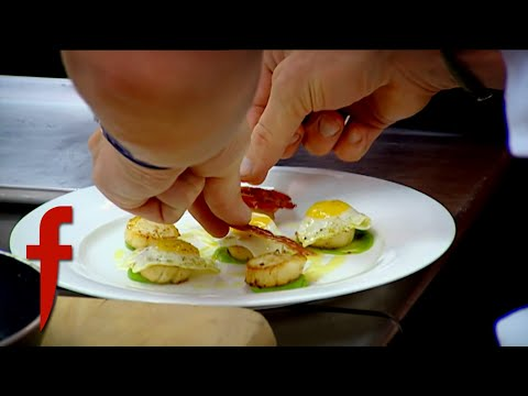 Gordon Ramsay Shows How To Cook & Plate Scallops | The F Word