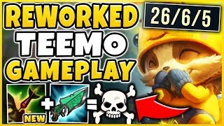 REWORKED TEEMO IS 100% BEYOND BROKEN! *INSTANT ONE-SHOT* TEEMO REWORK  - League of Legends