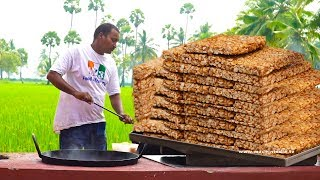 Groundnut Energy Bar Making | Peanut Brittle | Patti Making | Peanut Jaggery Bar | My3StreetFoods