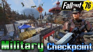 Military Checkpoint Camp Build - Top of The World Resort - #Fallout76