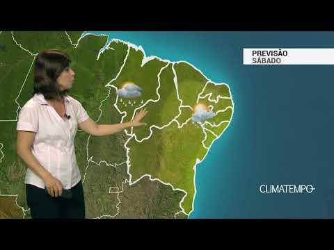 Previsão Nordeste - Chuva frequente no litoral norte