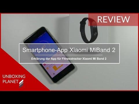 Erklärung Smartphone-App für Fitnesstracker Xiaomi Mi Band 2