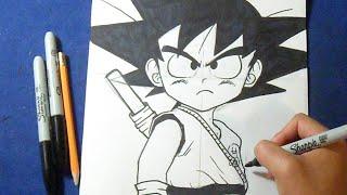 """Cómo dibujar a Goku Niño """"Dragon Ball""""   How to draw Goku child"""