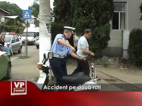 Accident pe două roți
