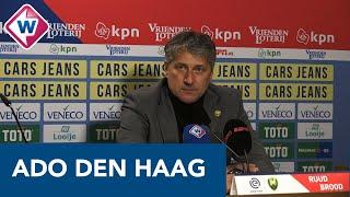 ADO-trainer Ruud Brood teleurgesteld na doelpuntloos gelijkspel tegen RKC - OMROEP WEST