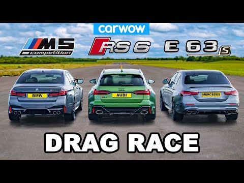 BMW M5 v Audi RS6 v AMG E63 S - DRAG RACE