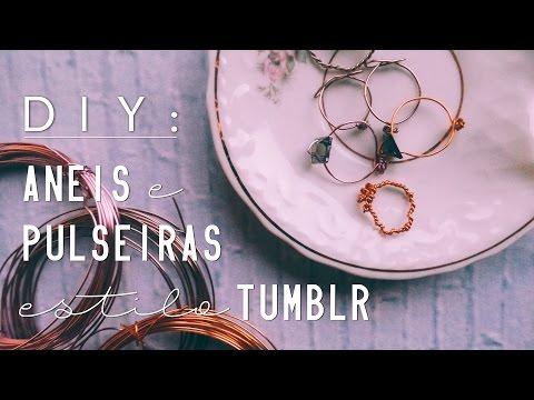 Anéis e Pulseiras de arame