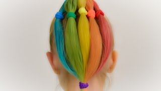 How To DYE Kids Hair With HAIR CHALK. Quick And Safe Coloring For Kids