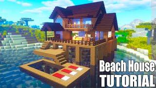 Minecraft Beach House Tutorial Minecraft House Minecraftvideos Tv
