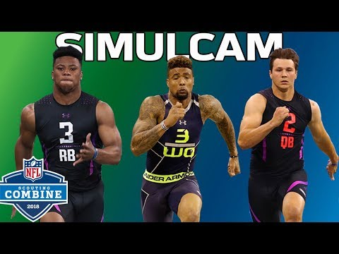 40-Yard Dash Simulcam: OBJ vs. DJ Clark, Barkley vs. Zeke & More!   NFL Combine Highlights