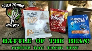 Battle of the Bean! Blind Taste Test of Jed's Coffee Co. vs. Folgers vs. Maxwell House Bean Bags