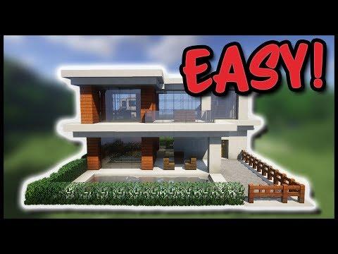 Minecraft Bauideen Modernes Haus Bauen Aus Quarz Und Akazienholz - Minecraft hauser zum nachbauen fur anfanger