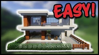 Einfache Moderne Villa Minecraft Tutorial Part German Most - Minecraft hauser bauen tutorial deutsch