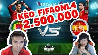 KÈO BO3 FIFA ONLINE 2.500.000 CÙNG VỚI TIỀN ZOMBIE