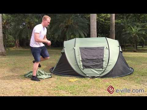3 4 personer självmonterande pop up tält Flingi FastCamp e