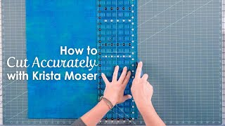 How to Cut Fabric Accurately for Quilting Stripsets - Krista Moser | Fat Quarter Shop
