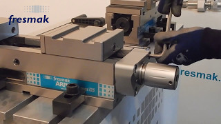 Assembling and dismantling of the spindle onto an ARNOLD MAT Mechanical vice