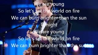Sam Woolf-We Are Young-American Idol 13[Lyrics]