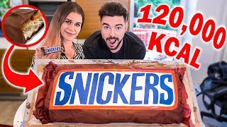 NAJWIĘKSZY SNICKERS NA ŚWIECIE! *120,000 kcal*