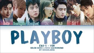 EXO - K (엑소케이) – 「PLAYBOY」 [7 Members ver.] + You as member (Color Coded Lyrics Han|Rom|Eng)