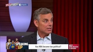 Has the NBA become too political? | SPEAK FOR YOURSELF