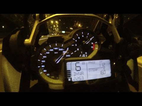 BMW R 1200 GS 0-200 acceleration & top speed