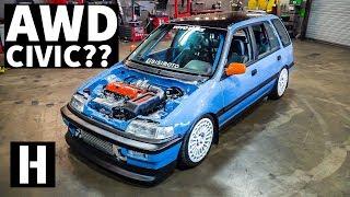 AWD Swapped Turbo Honda Civic EF Party Wagon!