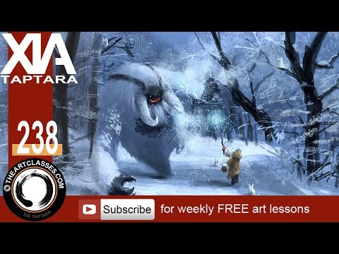 digital concept painting tutorial frost giant