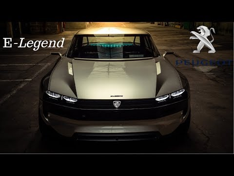 Peugeot E-Legend Concept - Retro-Tastic Electric Sports Car