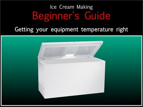 Video Ice Cream Making Beginner's Guide - Getting the temperatures right
