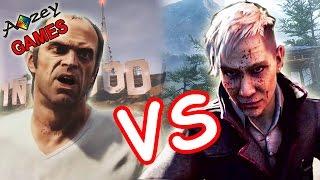 Far Cry 4 vs GTA 5 от 1-го лица    Геймплейный батл