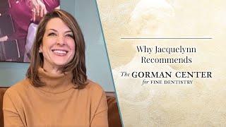 Video preview of a dental video about Jacquelynn, Dr. Gorman's actual patient