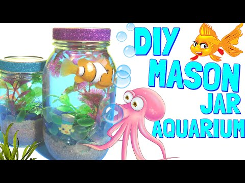 How to make an Aquarium In A Jar - Awesome Pinterest DiY Fun Craft!!!!