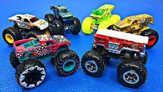 2019 Hot Wheels Monster Trucks for Kids | Learn Monster Truck Names & Colors | Fun Organic Learning