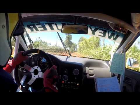 Nelson Giménez - Andrés Kruse  Rally de Aristóbulo  del Valle 2014 PC 5