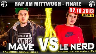 RAP AM MITTWOCH: Mave Vs Le Nerd 02.10.13 BattleMania Finale (44) GERMAN BATTLE