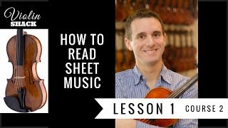 LEARN THE VIOLIN | Course 2.1 - How to Read Violin Sheet Music