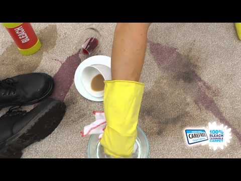 Regency CAREFREE Bleach Cleanable Capet Demo
