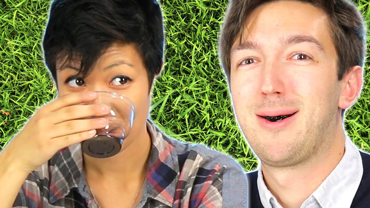 People Try Grass Jelly Drink For The First Time thumbnail