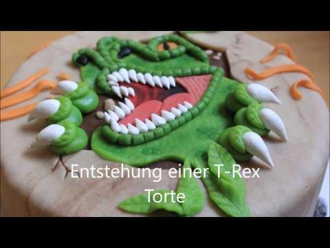 Entstehung einer T-Rex Dino Torte, Cake Tutorial