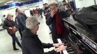 Opera Man Bumps Into Boogie Man  - Station Erupts