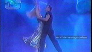 Patrick Swayze dancing with his wife Lisa