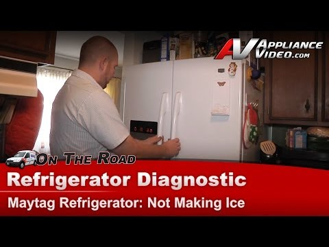 Refrigerator Diagnostic & Repair-Not Making Ice-Maytag,Whirlpool,Kenmore,Roper,Sears-MFI2670XEW6