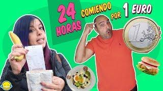 🍎 24 HORAS COMIENDO Por 1€ Al DÍA | Only Spend €1 Food For 24 Hours | Momentos Divertidos