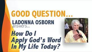 How do I apply God's word in my life today?
